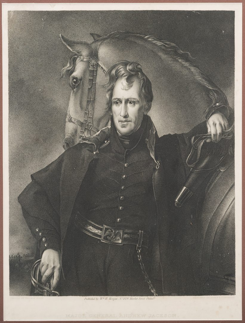 Lot 274: Andrew Jackson stipple engraving after Sully