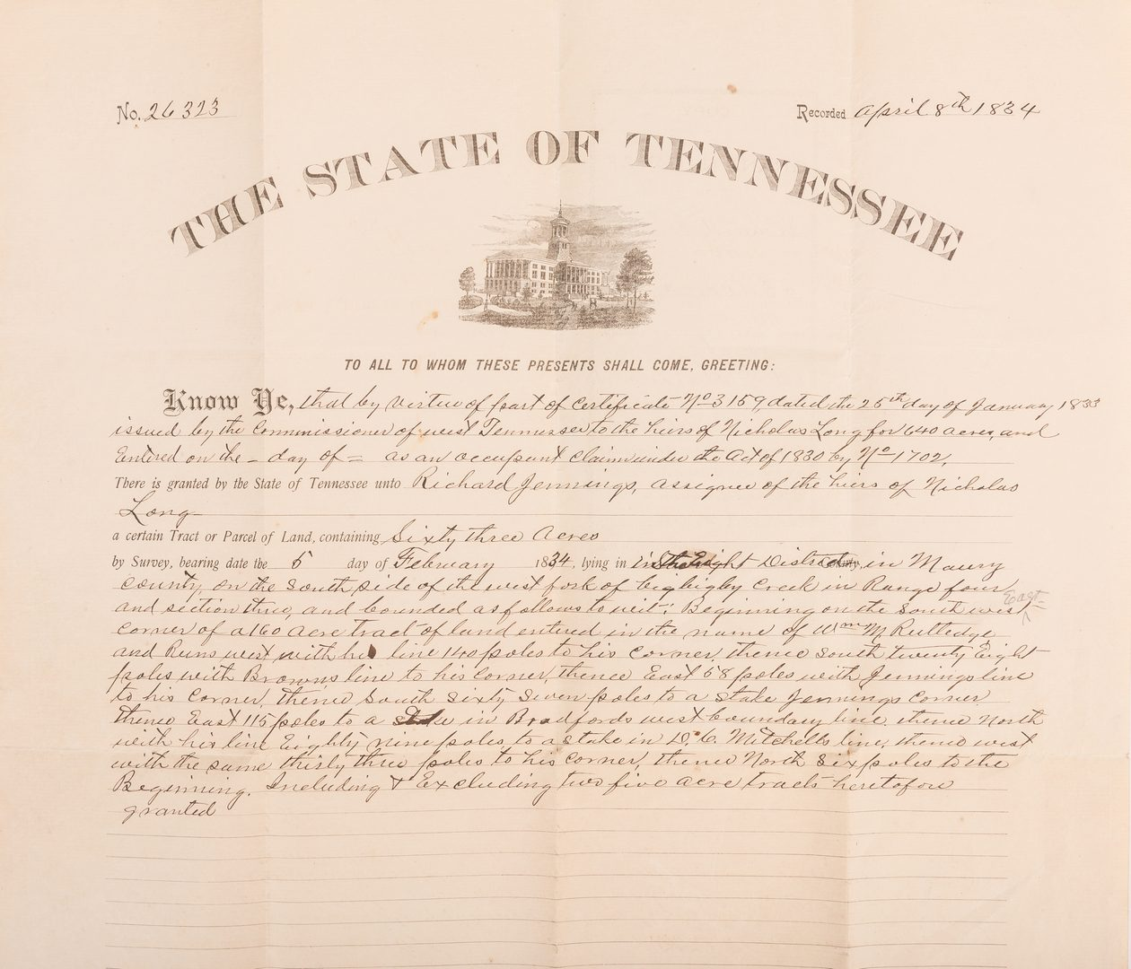 Lot 279: 5 TN Governor signed Documents