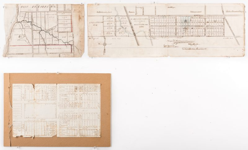 Lot 286: Hand drawn Memphis plat, ref. Fort Pickering