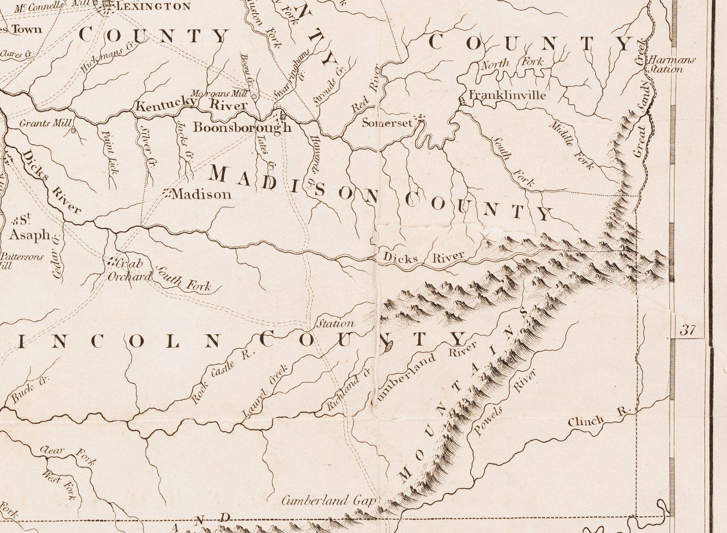 Lot 290: Kentucky Map, J. Russell, 1794