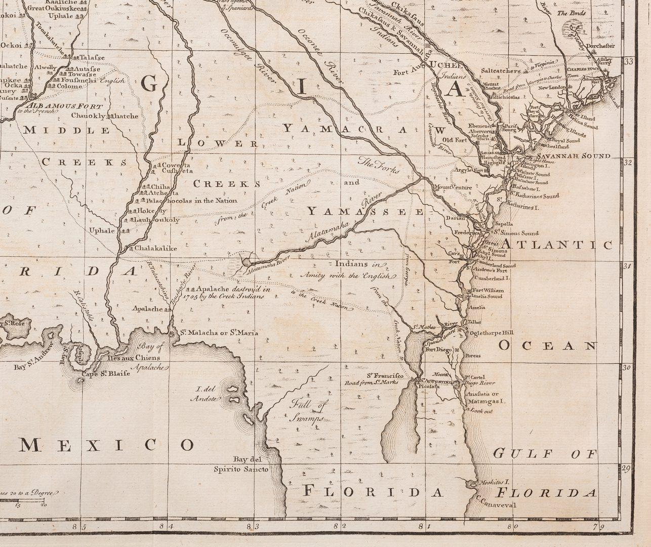 Lot 291: A New Map of Georgia, 1748 Bowen