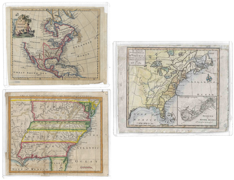 Lot 293: Three 18th C. U.S. Maps, inc. Southern
