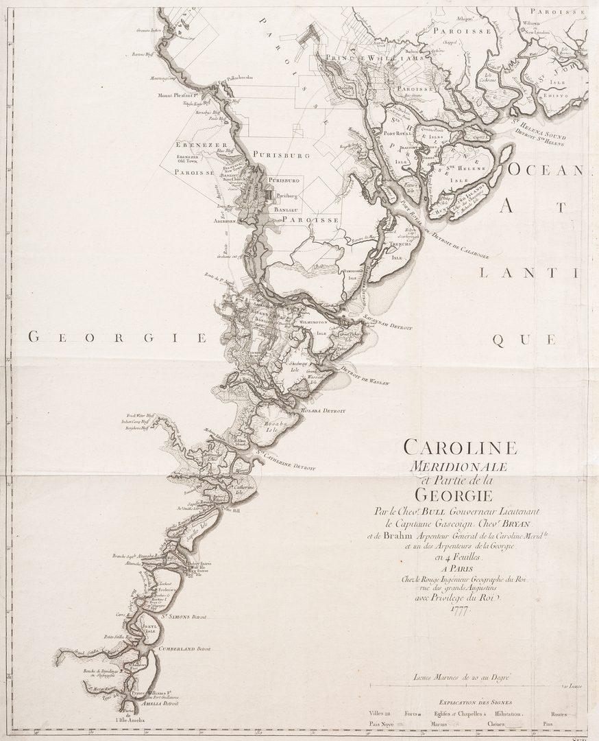 Lot 294: Part of Caroline Meridionale et Partie de la Georgie, 1777
