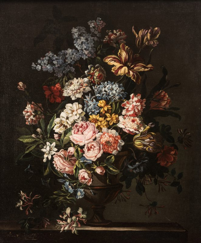 Lot 303: Jan Van Doust Dutch Oil on Canvas Still Life