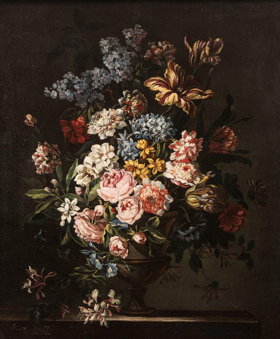 Lot 303: Jan Van Doust Dutch Oil on Canvas Still Life