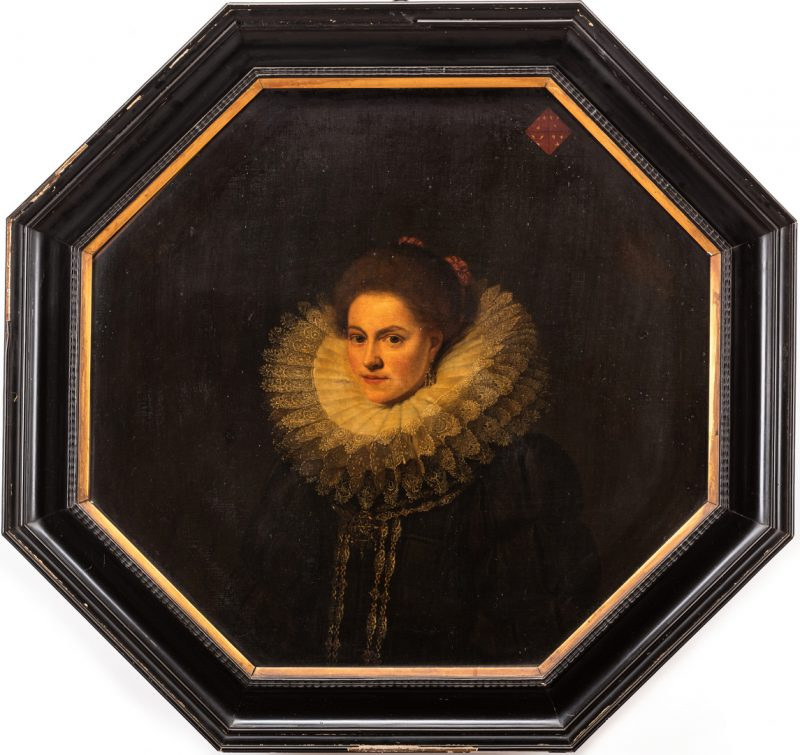 Lot 307: Circle of Cornelis De Vos, 17th c. Portrait of a Noblewoman