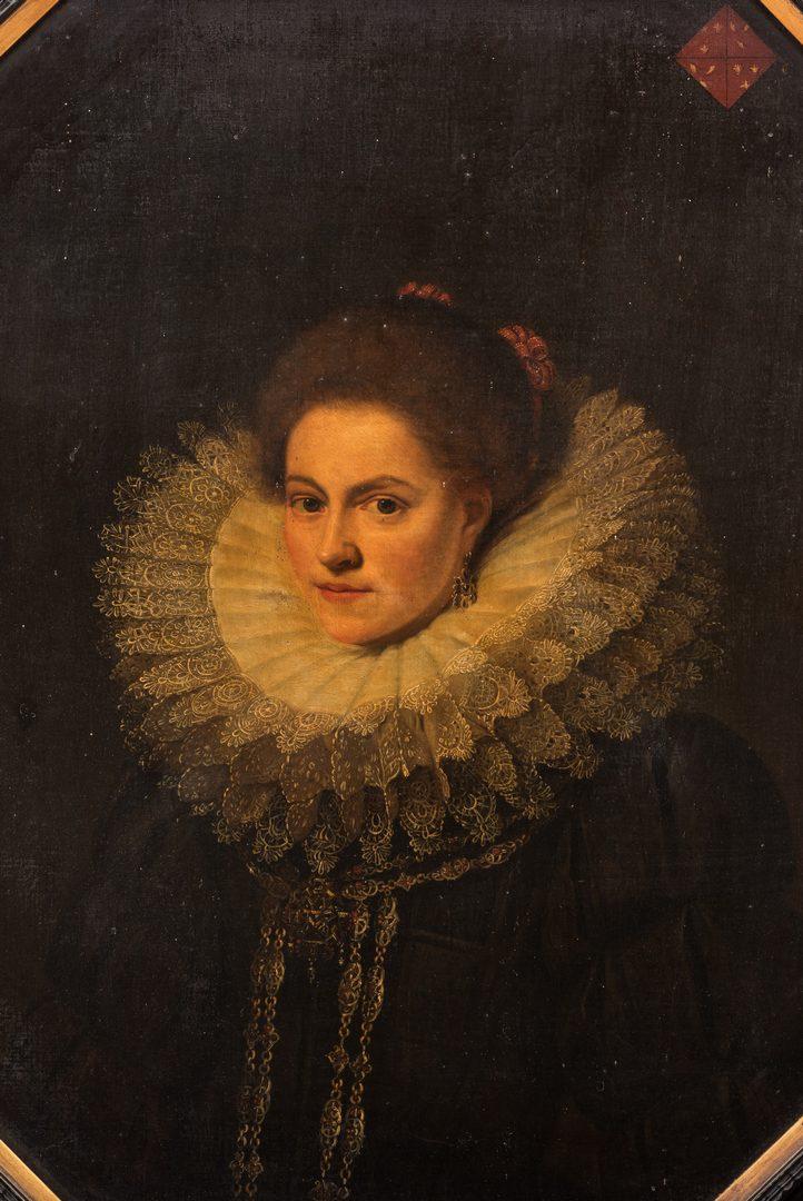 Lot 307: Circle of Cornelis De Vos, 17th c. Portrait of a Noblewoman