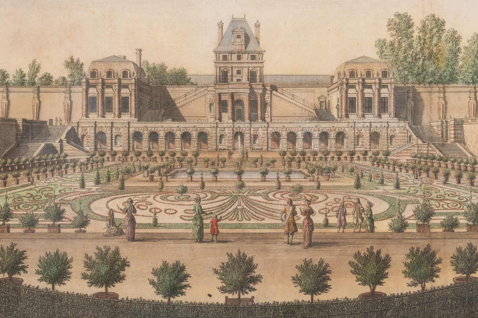 Lot 312: 2 French Chateau Engravings, Silvestre