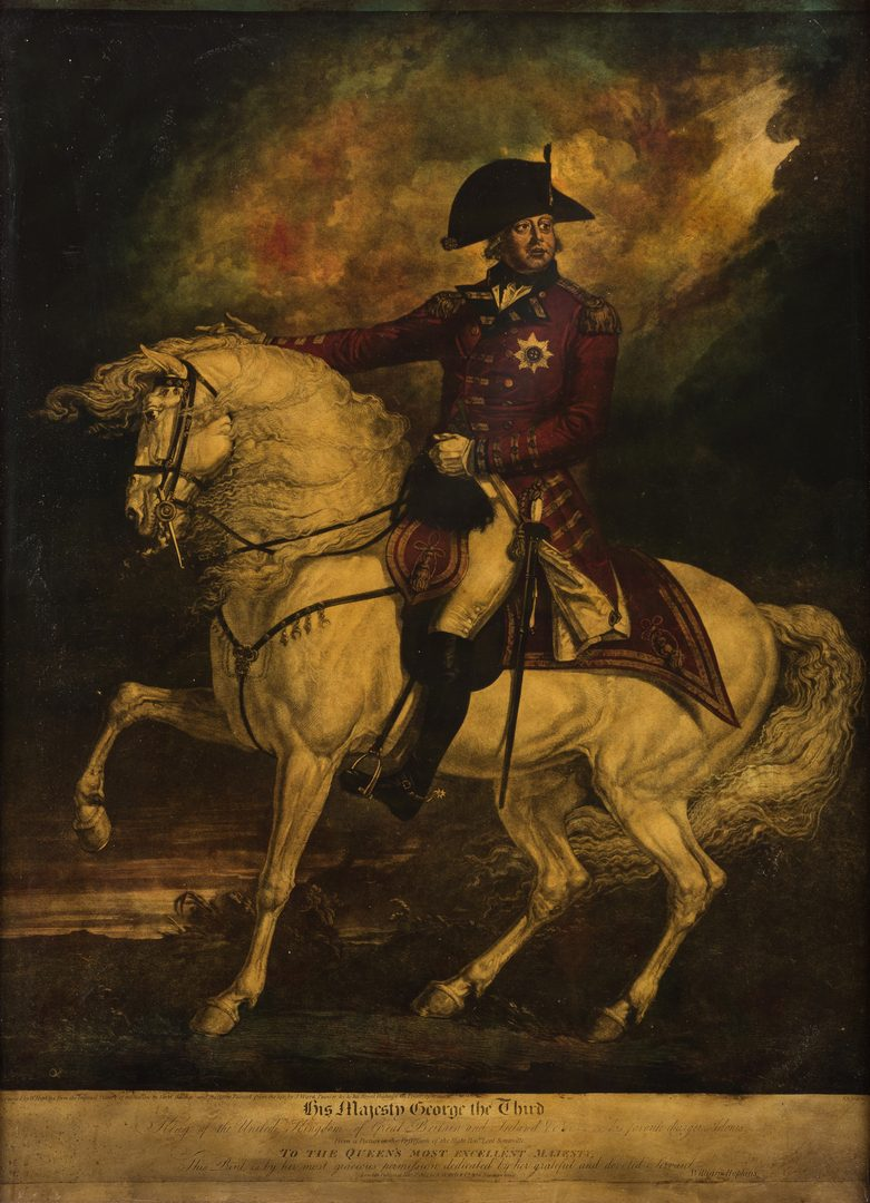 Lot 315: Reverse Glass Mezzotint, King George III and Adonis