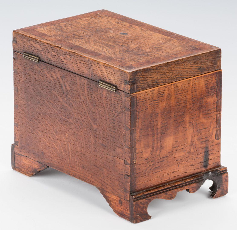 Lot 316: 6 18th Cent. Candlesticks & Tea Caddy
