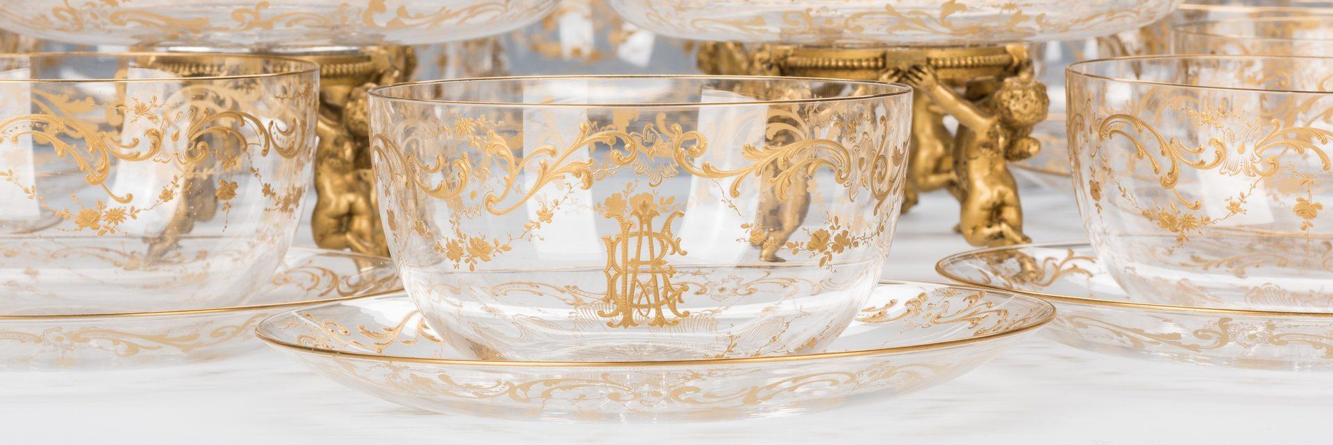 Lot 323: Baccarat Gilded Crystal Bowls & Tazzas