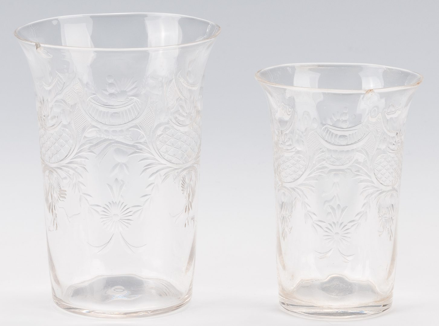 Lot 325: Set 19th c. Glass, Belle Meade Plantation History