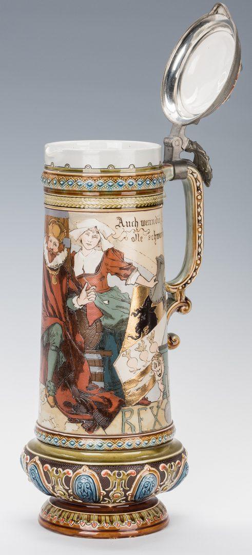 Lot 328: German Mettlach Schlitt Ceramic Stein