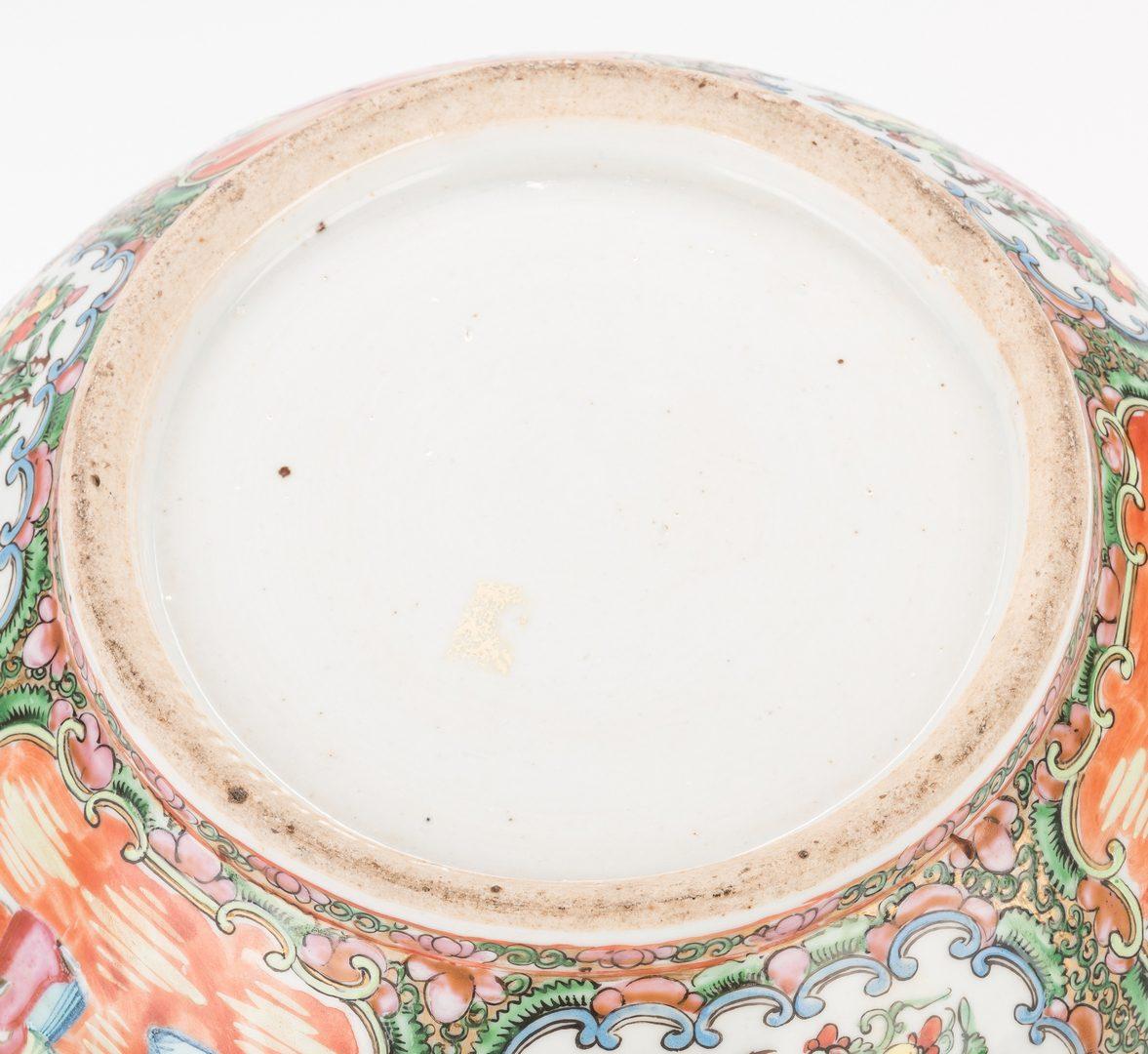 Lot 337: Rose Medallion Punch Bowl