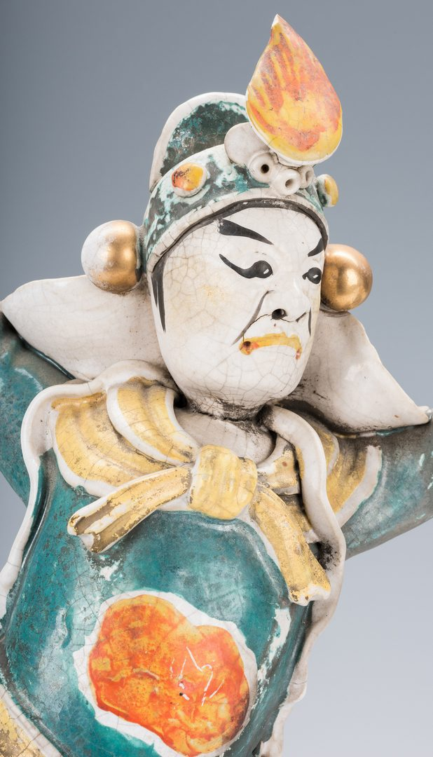 Lot 338: Group of Ceramic Chinese Roof Figures