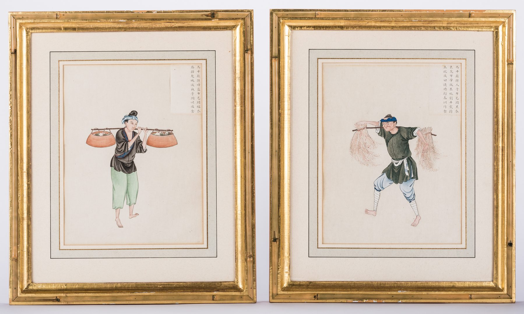 Lot 33: 4 Chinese Export Watercolor Portraits