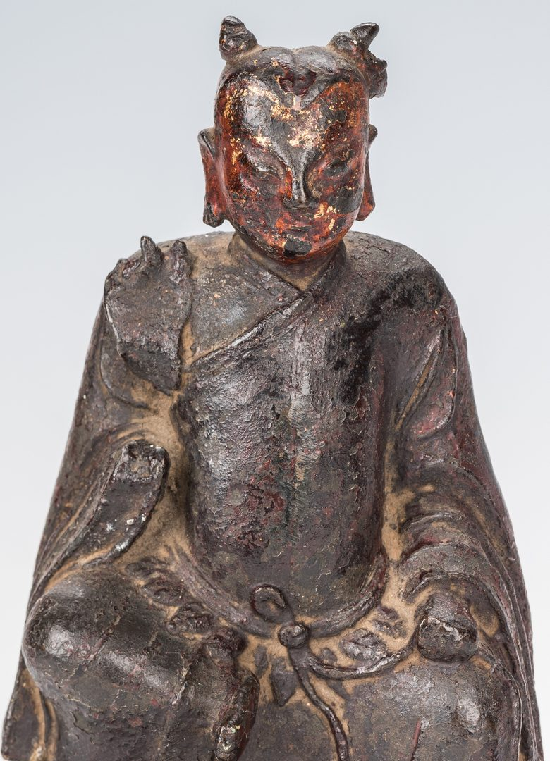 Lot 341: 2 Bronze Asian Figures inc. Sun Simaio