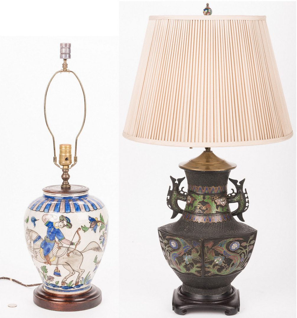 Lot 347: 2 Asian Themed Lamps