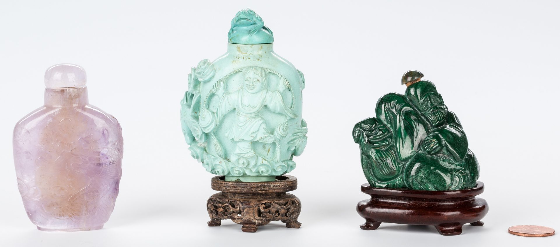 Lot 349: 3 Chinese snuff bottles