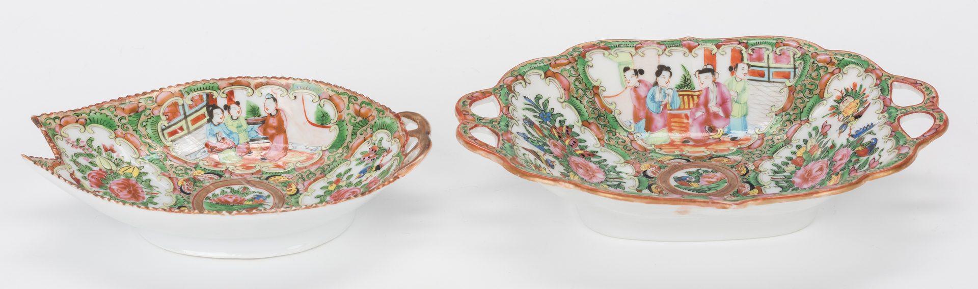 Lot 354: 4 Pcs. Chinese Rose Medallion Porcelain