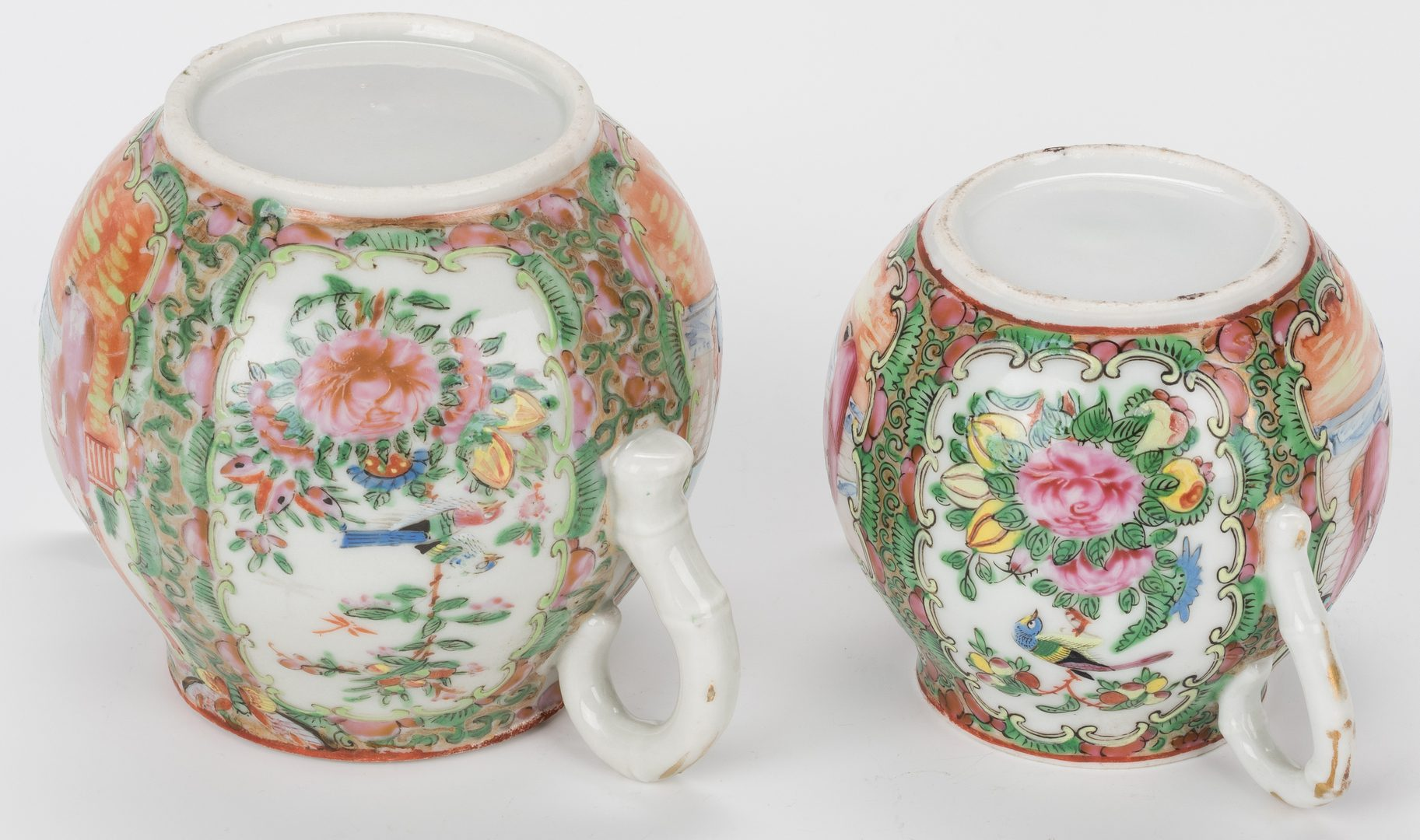Lot 356: 7 Chinese Rose Medallion/Rose Canton Porcelain Serving Items