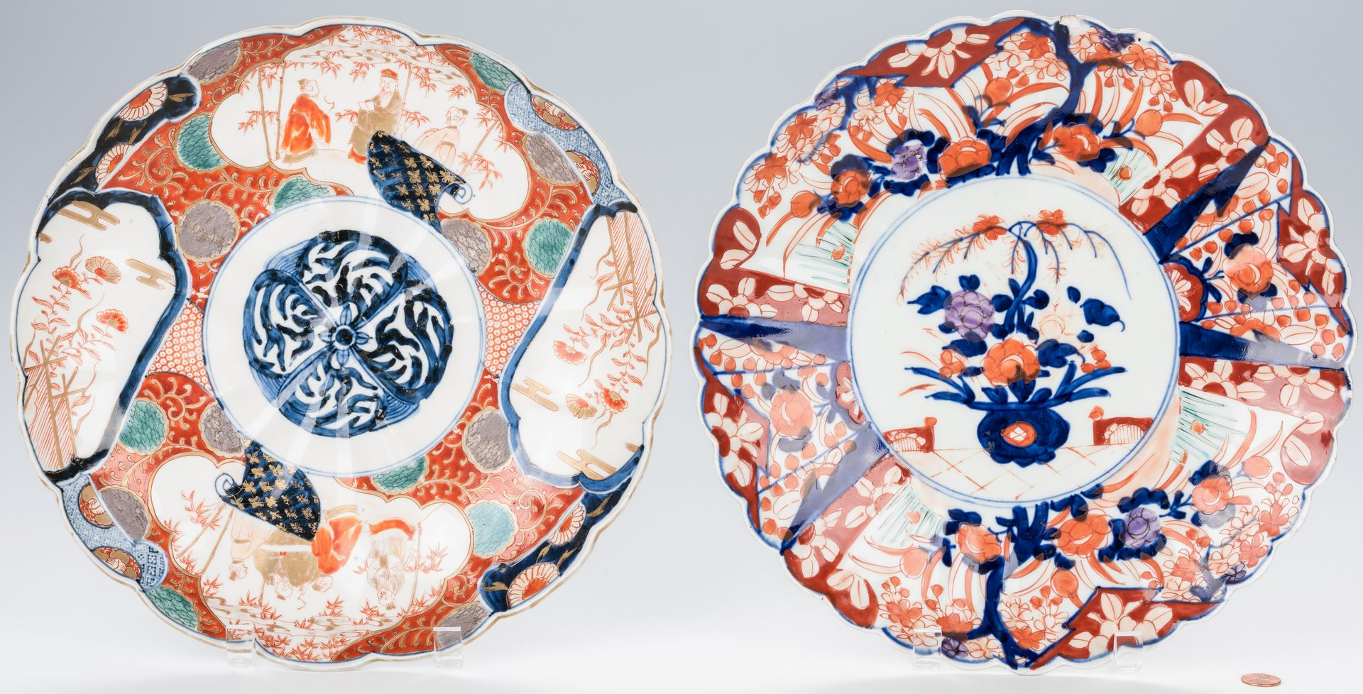 Lot 360: 6 Japanese Imari or Arita Porcelain Chargers