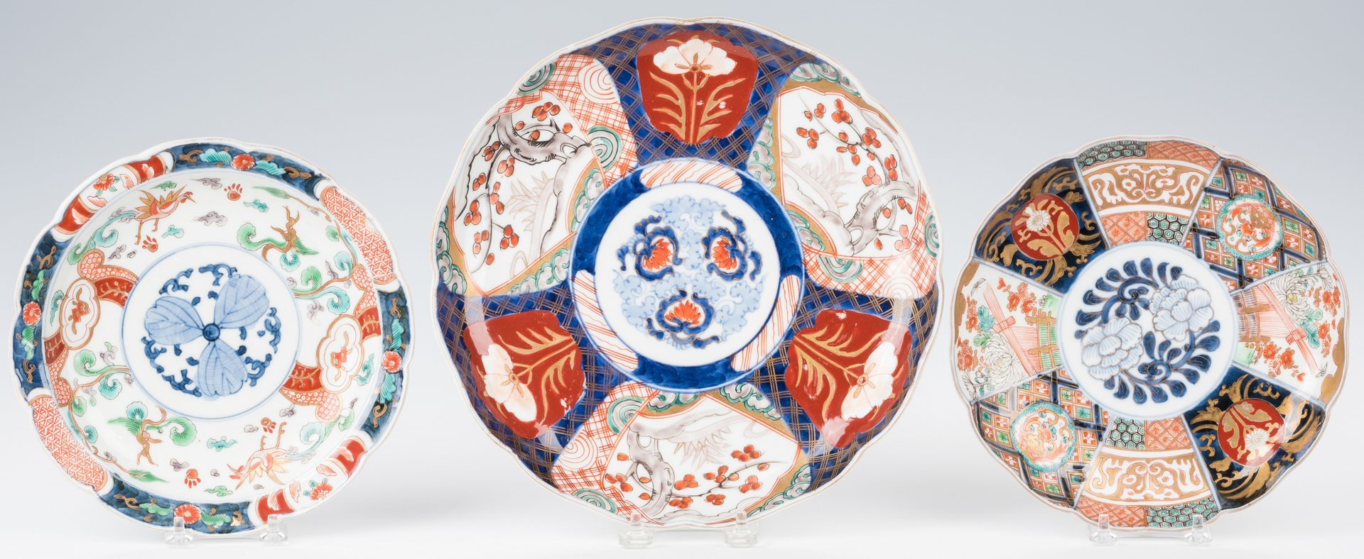 Lot 361: Group of 25 Japanese Imari or Arita Plates