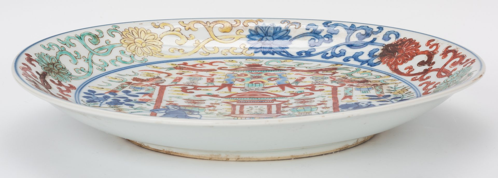 Lot 363: 2 Chinese Porcelain Items, Charger & Covered Dish