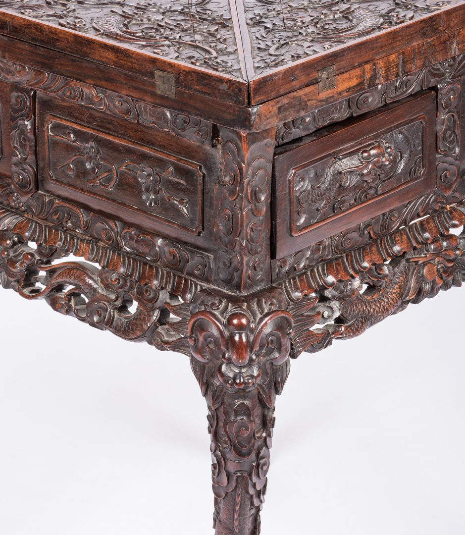 Lot 36: Chinese Hardwood Games Table
