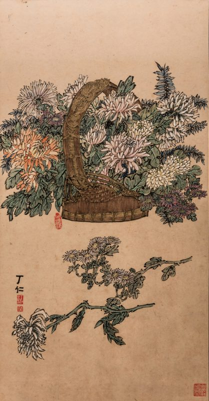 Lot 372: Manner of Qi Baishi, Chinese Floral Painting