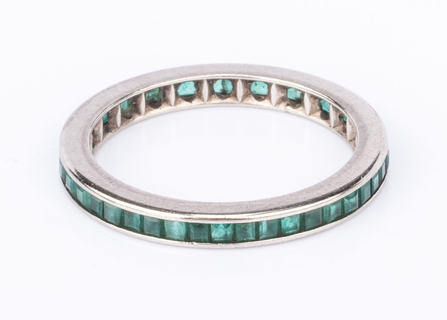 Lot 378: 14K Emerald Band and Italian Bracelet, 2 items