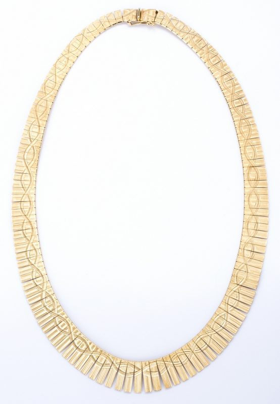 Lot 379: 14K Italian Necklace, 37.7 grams