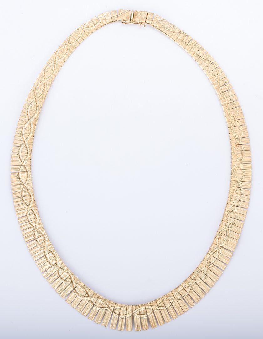 Lot 379: 14K Italian Necklace, 37.7 grams