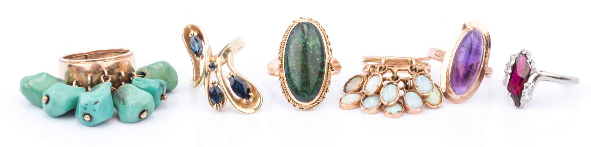 Lot 381: Group of 9 Cocktail Rings