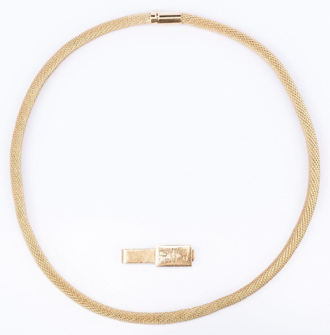 Lot 383: 2 14K Jewelry Items, inc. Italian necklace