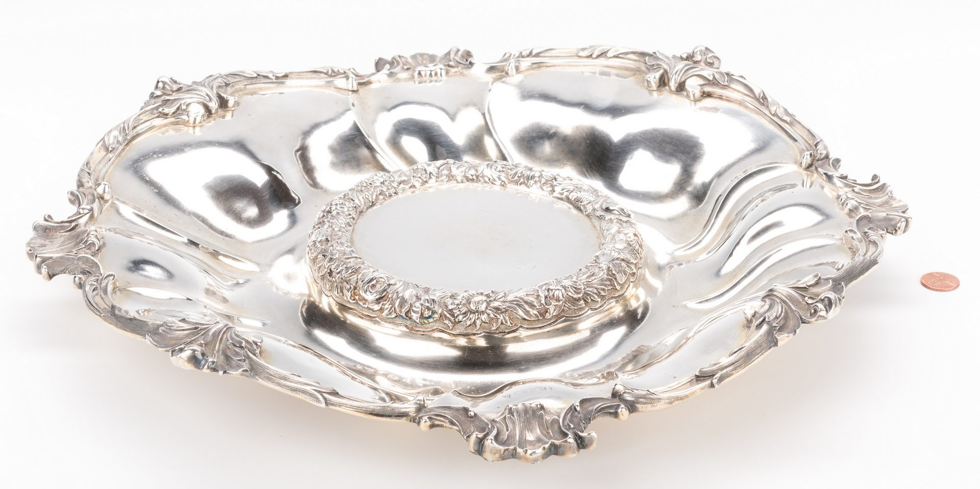 Lot 385: Sterling Centerpiece Bowl