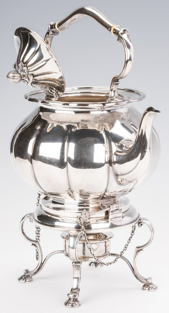 Lot 386: Sterling Silver Tea Kettle & Stand
