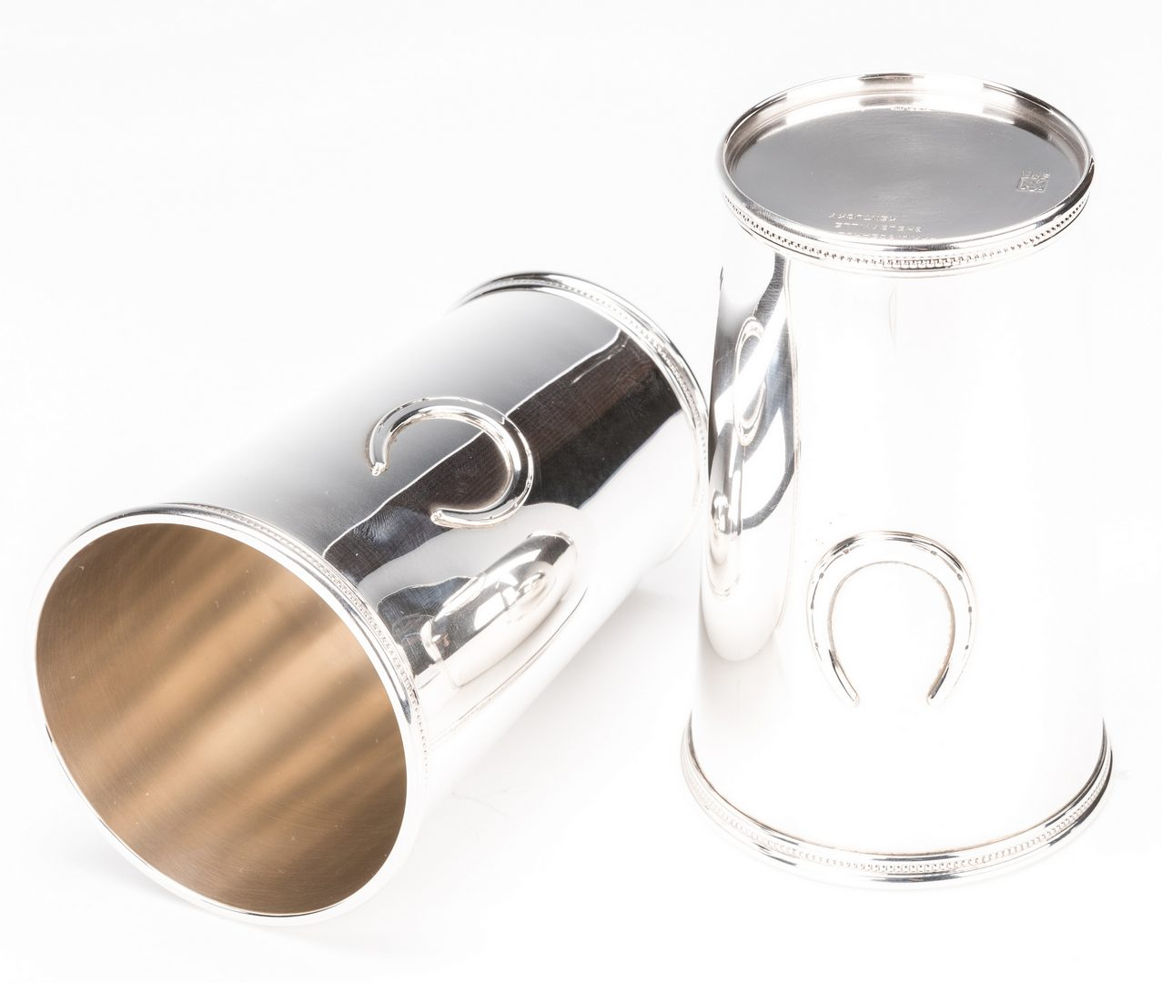 Lot 398: 5 Scearce Presidential Sterling Julep Cups  – Nixon Administration