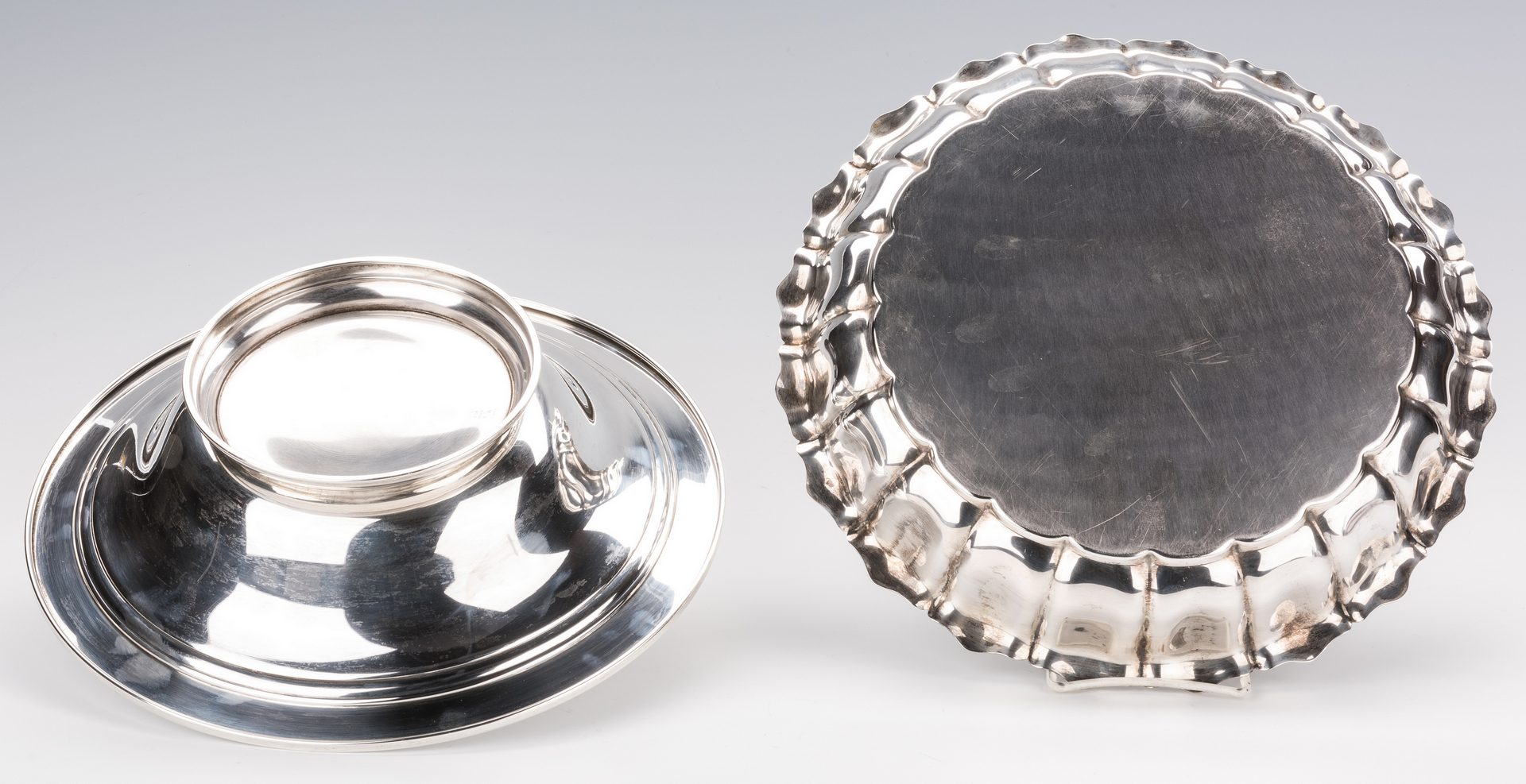 Lot 400: 2 Large Sterling Silver Center Bowls