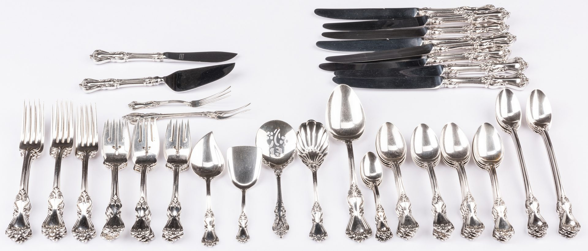 Lot 402: Reed & Barton Marlborough flatware, 63 pcs plus 2 others
