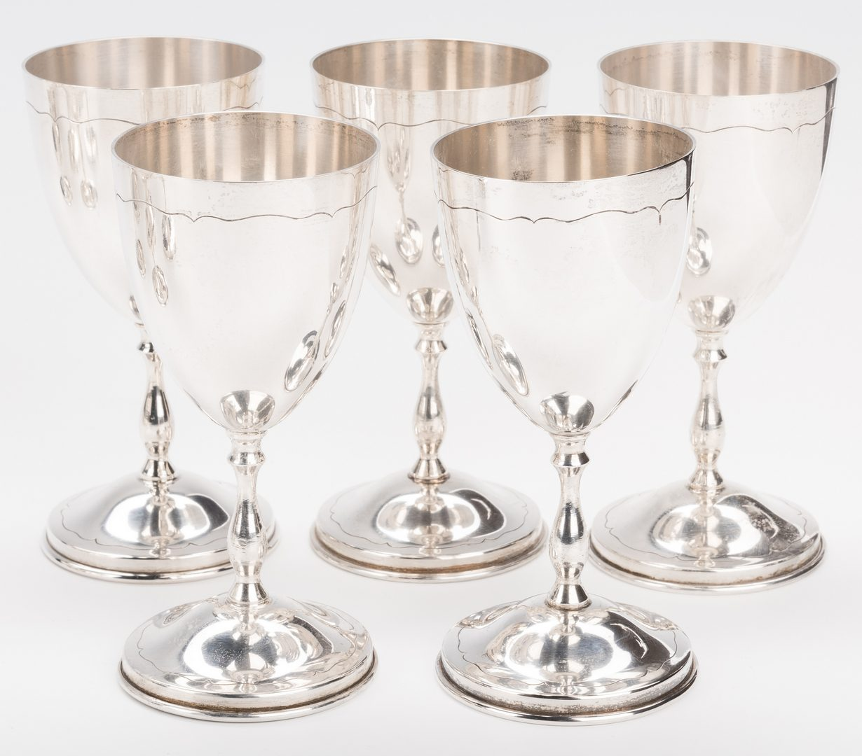 Lot 403: Mexican plus other Sterling Stemware, 17 pcs