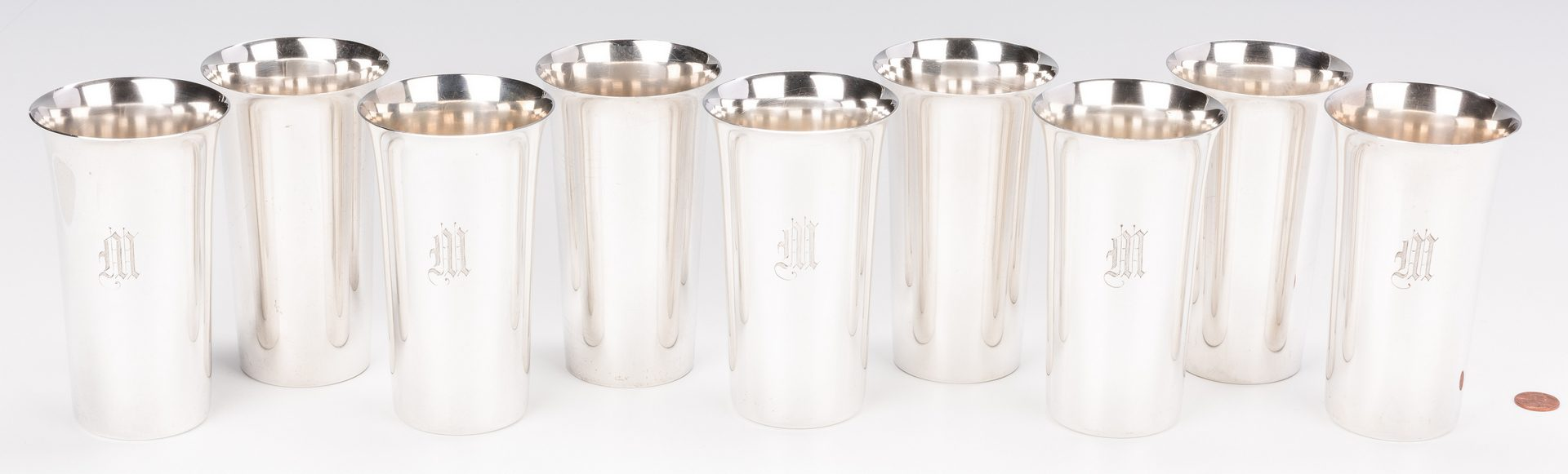 Lot 407: 9 Sterling Beakers, Manchester and Fisher