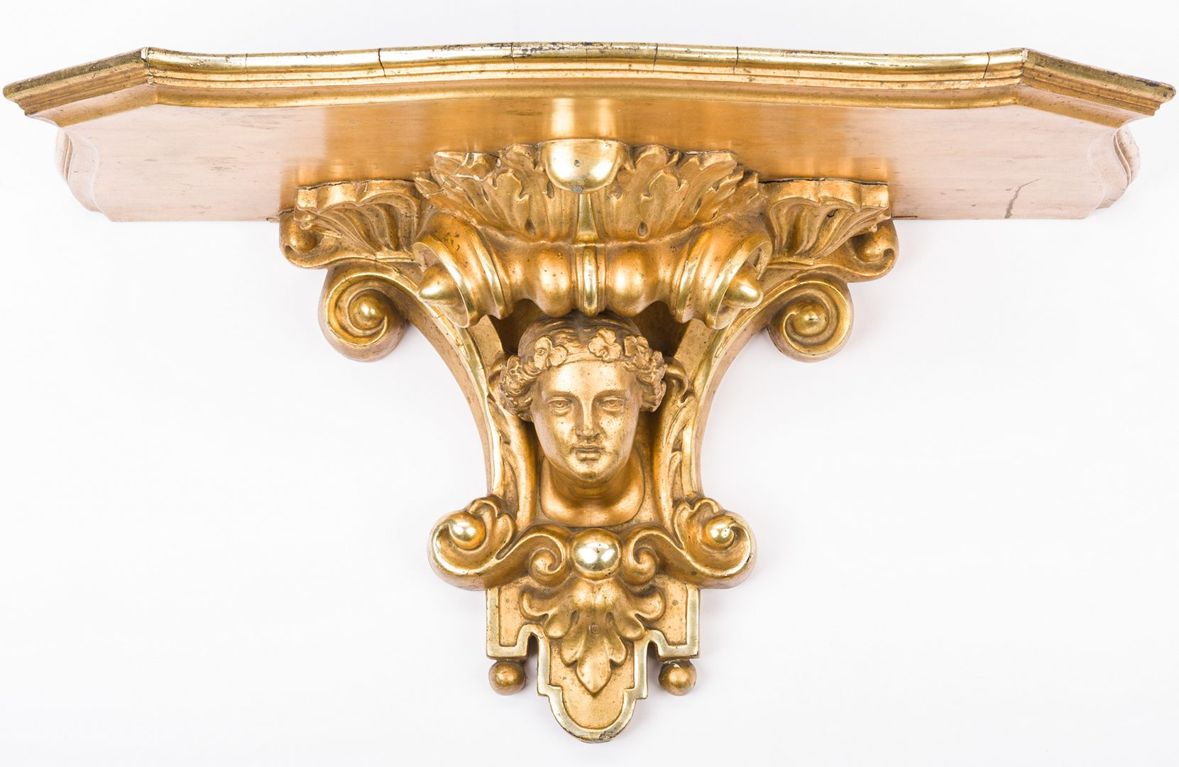 Lot 412: Continental Carved Gilt Wood Wall Bracket