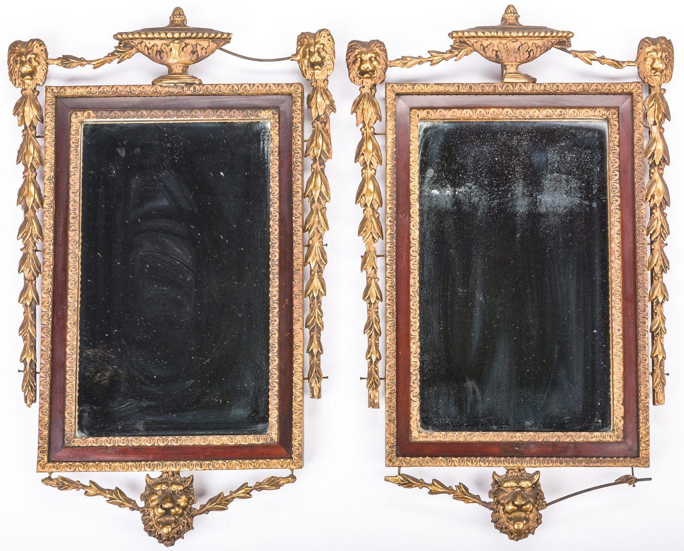 Lot 415: Pair Italian Parcel Gilt Mirrors