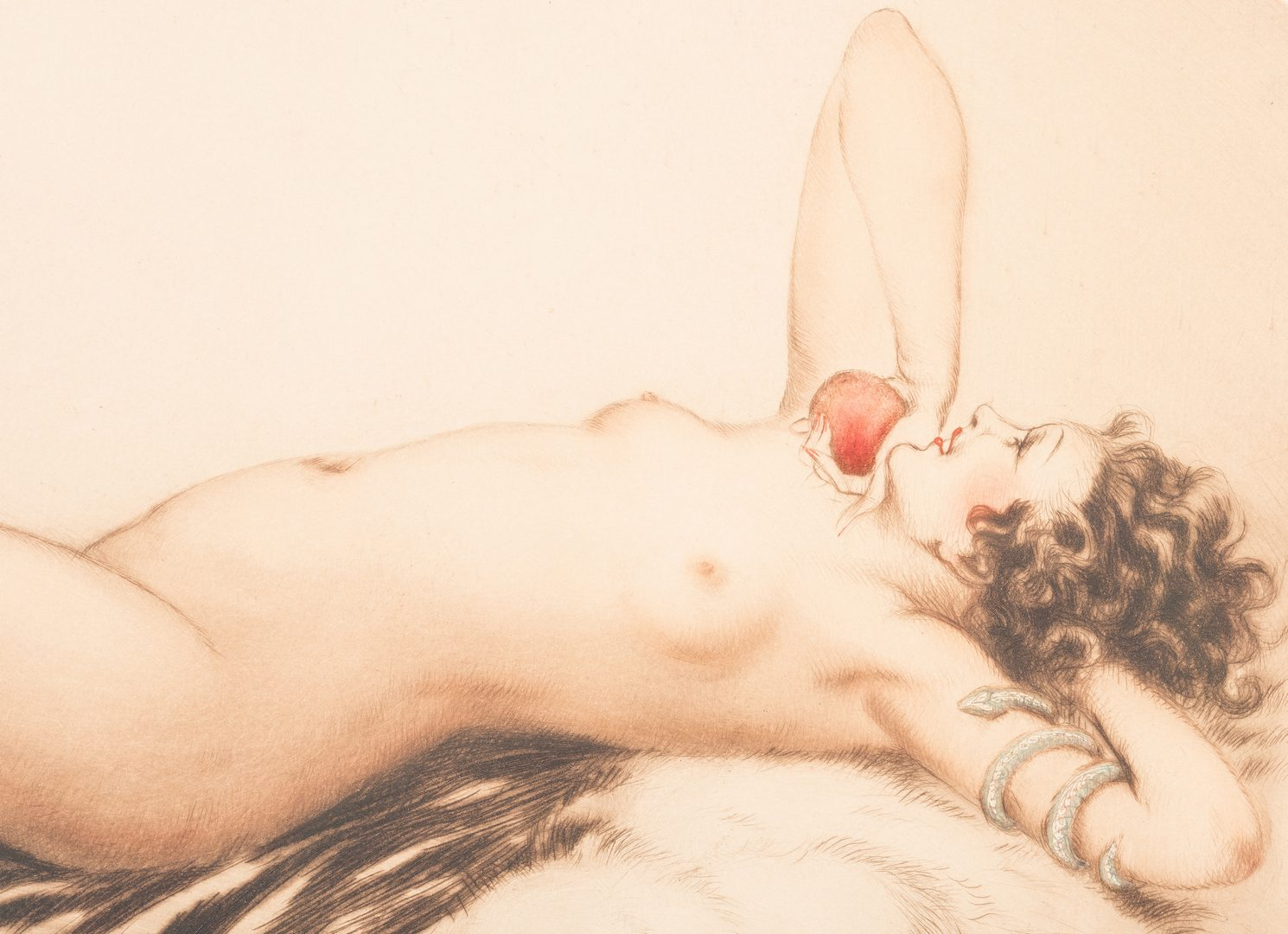 "Lot 420: Louis Icart signed etching, ""Eve"""