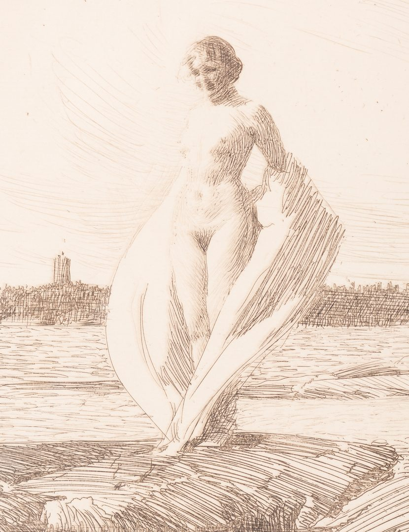 "Lot 422: Anders Zorn Etching, ""The Swan"""