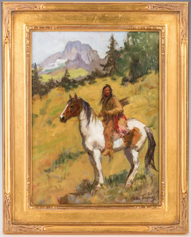 "Lot 423: Susan Terpning, O/B, ""Blackfoot Trail"""