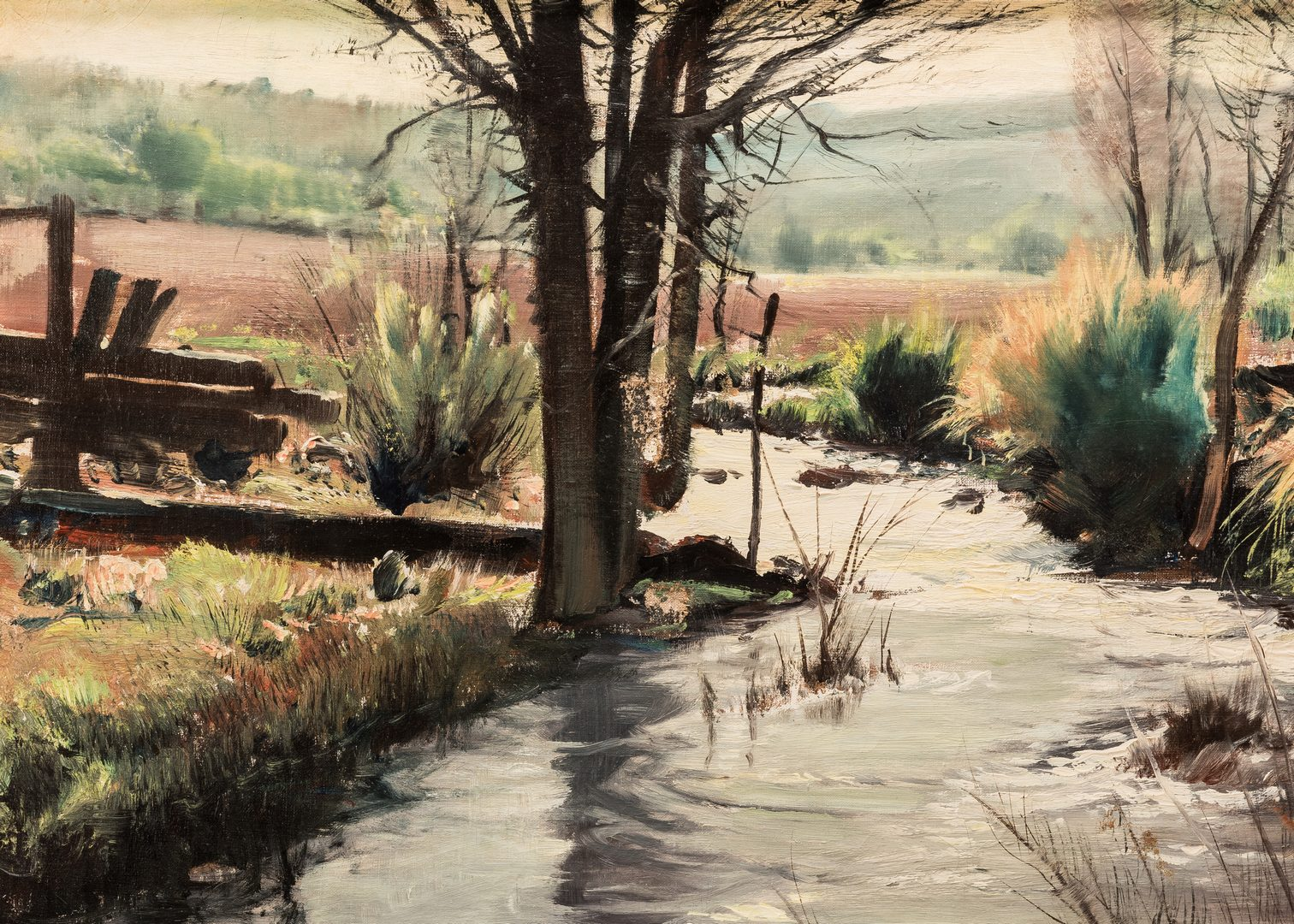 Lot 424: Paul Lauritz, O/C, Landscape with Creek