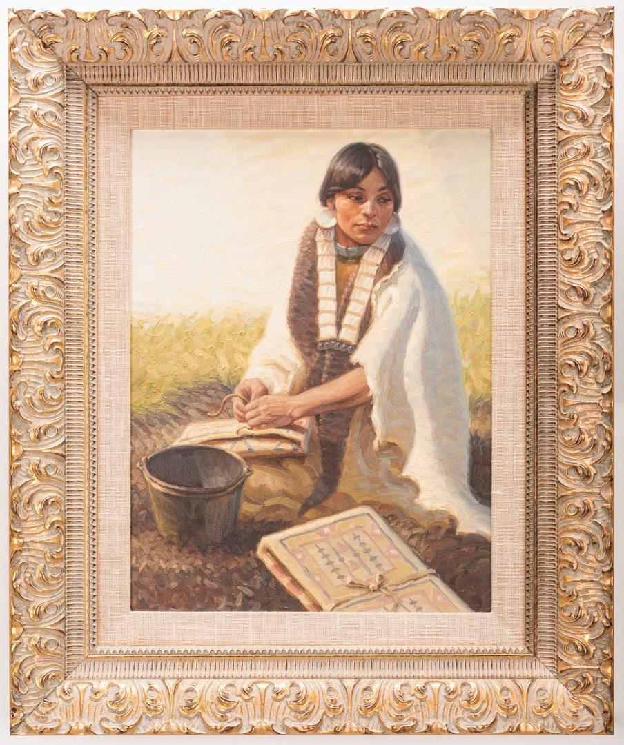 Lot 427: Tom Saubert, O/B, Indian Maiden