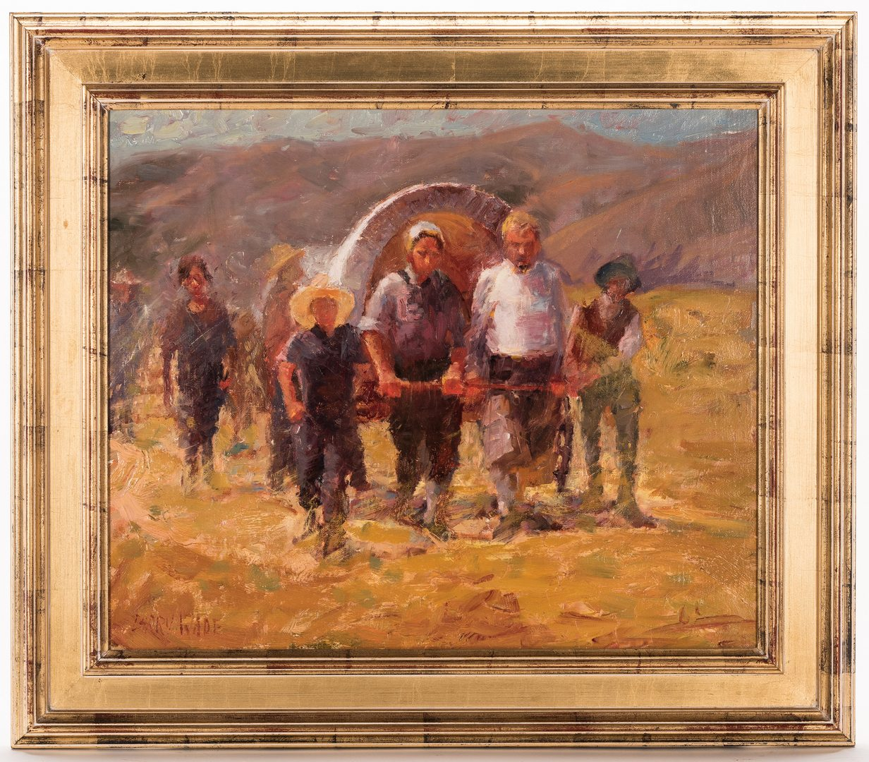 "Lot 429: Larry C. Wade, O/B, ""Small Town Scene"""